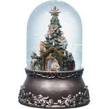 ceramic christmas tree with lights cracker barrel snow globes you ll love wayfair