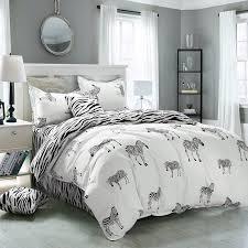 Zebra Bed Set King Size Zebra Print Bedding Sets 4pc Bed Sheet 100