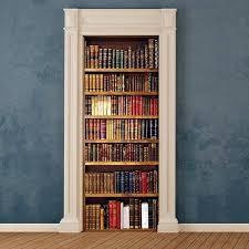 adesivi porta decorazione porta libreria adesivi murali wall stickers
