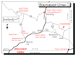 map of southern utah hovenweep