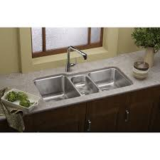Elkay Kitchen Faucet Reviews Elkay Lustertone Eluh4020 Triple Bowl Undermount Stainless Steel