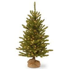 national tree company 4 ft kensington burlap artificial christmas
