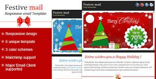 festive2 christmas newsletter template bluenila themeforest