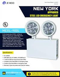 nfpa 101 emergency lighting led lights adjustable round heads with heavy duty steel case