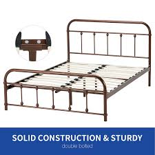 amazon com dfm metal bed frame mattress foundation with