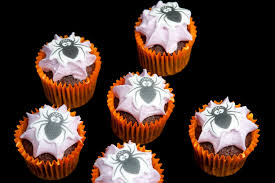 Mini Halloween Cakes by Image Of Spider Cup Cakes Creepyhalloweenimages