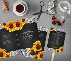 Chalkboard Wedding Program Template Sunflower Printable Chalkboard Wedding Program Template Order