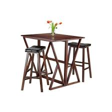 Drop Leaf Pub Table Harrington 3 Drop Leaf Pub Table With 2 Stools Dining Sets