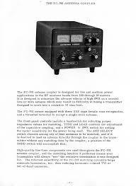yaesu fc901 antenna tuner documents