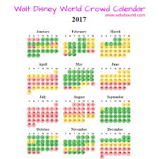 2017 walt disney world crowd calendar walt disney world planning