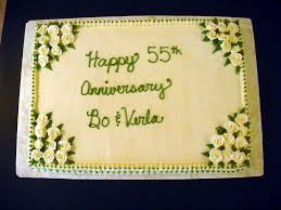 55th wedding anniversary 55th wedding anniversary cake cakecentral