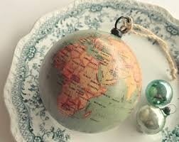 world globe ornament etsy