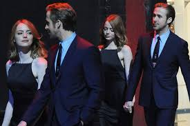 ryan gosling emma stone couple film emma stone and ryan gosling hold hands as they film intimate scenes