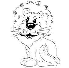 gambar sketsa hewan singa gambar mania