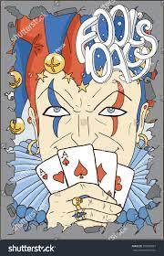 april fools day card smiling joker stock vector 392930827