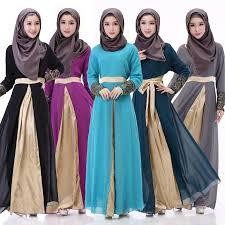 2016 fashion muslim dresses sequins arab women robes long sleeves