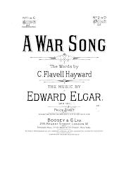 a war song op 5 elgar edward imslp petrucci library