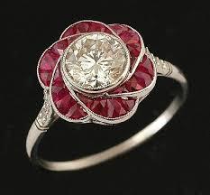 art deco u0027floral cluster design u0027 replacement engagment ring