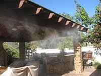 southern cool mist misting fans for patio misting and mistscaping