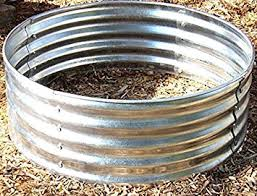 Large Fire Pit Ring by Amazon Com 35 Inch Round Galvanized Outdoor Fire Pit Ring 12 1 2