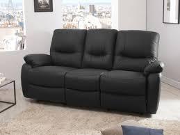 canapé cuir noir 3 places canapé cuir authenticité et design dans votre salon