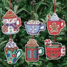 janlynn cross stitch janlynn cocoa mug ornaments cross stitch