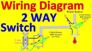 2 way light switch wiring diagrams youtube arresting two diagram