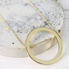 large gold ring necklace images Personalised longline large circle pendant necklace by lisa angel jpg