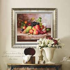hand painted flower oil painting living room decor grape kitchen
