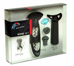 wine set gifts vacu vin wine gift set wine accessory sets bar