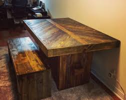 Rustic Bench Dining Table Table And Bench Etsy