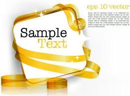 decorative ribbon decorative ribbon design template vector 3 text free vector in