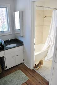 hanging a sink mirror in front of a window young house love