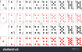 number aces deck cards excluding stock vector 1253670