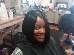 invisible part hair style invisible part quickweave asymetric bob hairstyle w gro protec