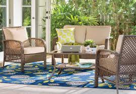Deep Seating Wicker Patio Furniture - beachcrest home niceville 4 piece deep seating group with cushion