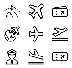 airplane icons 1 614 free vector icons