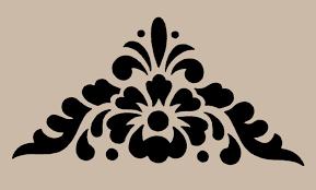 stencil floral motif corner 10x9 7