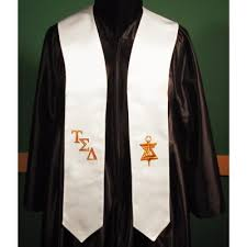 honor stoles tau sigma delta honor stole honor grads