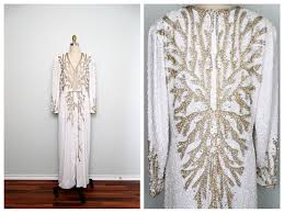 gold u0026 silver pearl beaded gown white and gold beaded dress