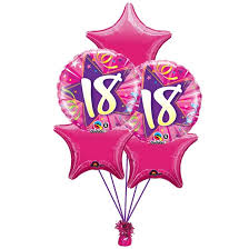 ballons in a box 18th birthday bouquet in a box gift
