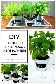 inside herb garden diy farmhouse decor indoor galvanized garden planters with bonus