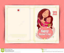 happy mothers day celebration greeting card design stock