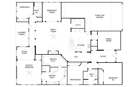 4 Br House Plans Four Bedroom Plan Fresh Ranch House Plans On Apartment Decor Ideas