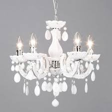 Marie Therese Crystal Chandelier Ch Chrome White Crystal Chandelier Grandoluce Home Lighting Ideas