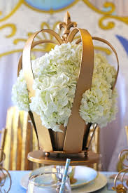 Royal Crown Centerpieces by Kara U0027s Party Ideas Hydrangea Crown Centerpieces From A Royal