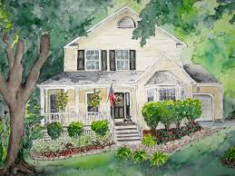 customize house painting for housewarming gifthouse portrait