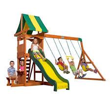 backyard discovery slide backyard discovery weston wooden swing set academy