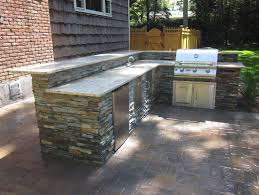 bbq island design with granite countertop outdoor kitchen with