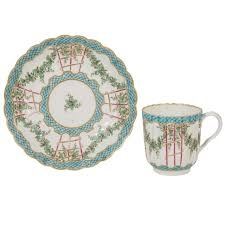 an 18th century soft paste worcester hop trellis pattern cup and